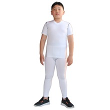 Спортивные Компрессионные комплекты для мальчиков, футболка и штаны, быстросохнущие короткие рубашки без рукавов, брюки, комплекты для бега по футболу и баскетболу