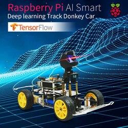 Автомобиль Donkey Smart AI Line, программируемый робот Opensource, самостоятельное вождение, платформа для Raspberry Pi, автомобильная игрушка, подарок для дет...