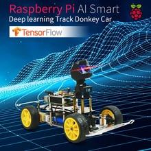 حمار سيارة ذكية AI خط أتباع برمجة روبوت مفتوح المصدر لتقوم بها بنفسك منصة القيادة الذاتية لتوت العليق بي سيارة لعبة هدية للأطفال