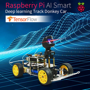 Image 1 - Donkey Car Smart AI Line Follower Programmable Robot Opensource DIY Self Driving Platform for Raspberry Pi Car Toy Gift For Kids