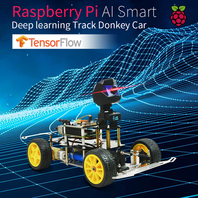 Donkey Car Smart AI Line Follower Programmable Robot Opensource DIY Self Driving Platform for Raspberry Pi Car Toy Gift For Kids