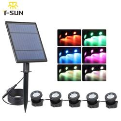 T-SUN 1/2/3/5 светильник RGB солнечный светильник s на открытом воздухе IP65 водонепроницаемый солнечный светильник на лужайке светильник на солнеч...