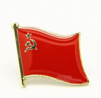 العلم الوطني دبوس معدني لطية الصدر دبوس العلم الاتحاد السوفياتي روسيا