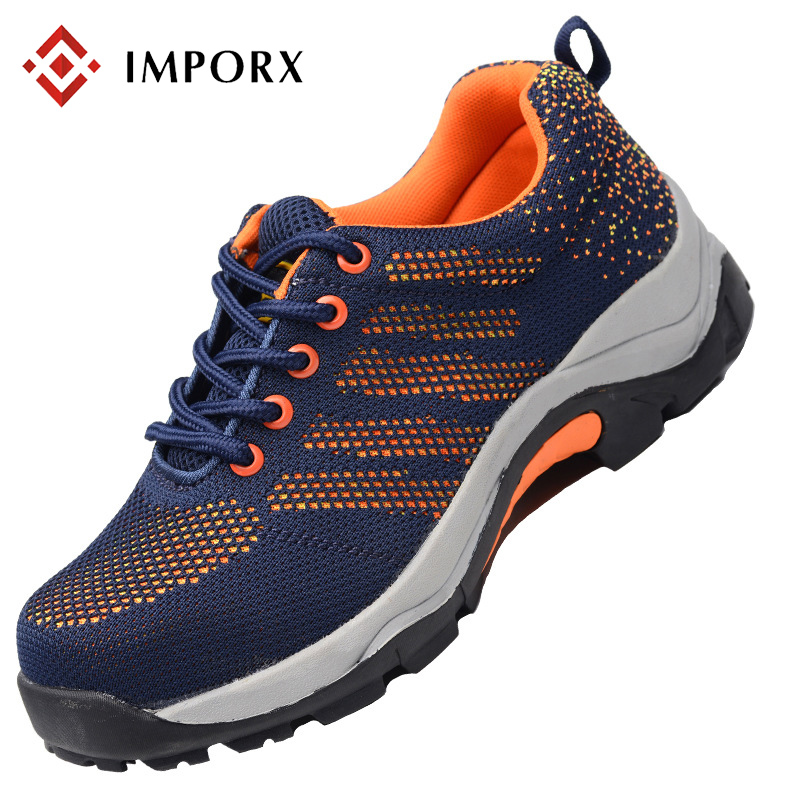 2018 New Men Safety Work Shoes Mesh Breathable Steel Toe Casual Breathable Boots Anti-puncture Labor Insurance Mens Safety Shoes new exhibition fashion safety shoes men outdoor steel toe cap anti puncture boots lightweight and breathable casual work shoes
