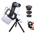 8X Lente Zoom Microscopio Telescopio Teleobjetivo Macro Con El Clip trípode gran angular lentes de ojo de pez para iphone 6 7 xiaomi huawei