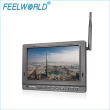 FPV758 Feelworld 7 Inch Drone FPV Monitor dengan Dual 5.8G 32CH Diversity Receiver Wireless Monitor 1024×600 IPS monitor