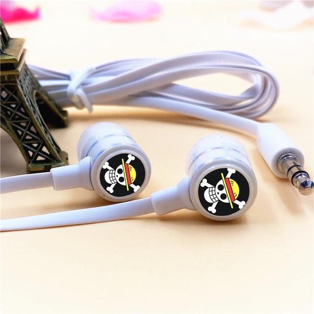 One Piece Luffy Skull In-ear Earphone Stereo Earbuds Headset