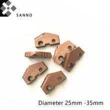 CNC Лопата дрель вставка диаметр 25 мм-35 мм T-A вставки для дрели качество как Allied машины и инженерные
