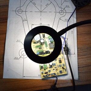 Image 4 - NEWACALOX מגדלת זכוכית USB 3X ספסל מלחציים שולחן מהדק זכוכית מגדלת LED אורות גמיש מנורת שולחן לקריאה עבודה תאורה