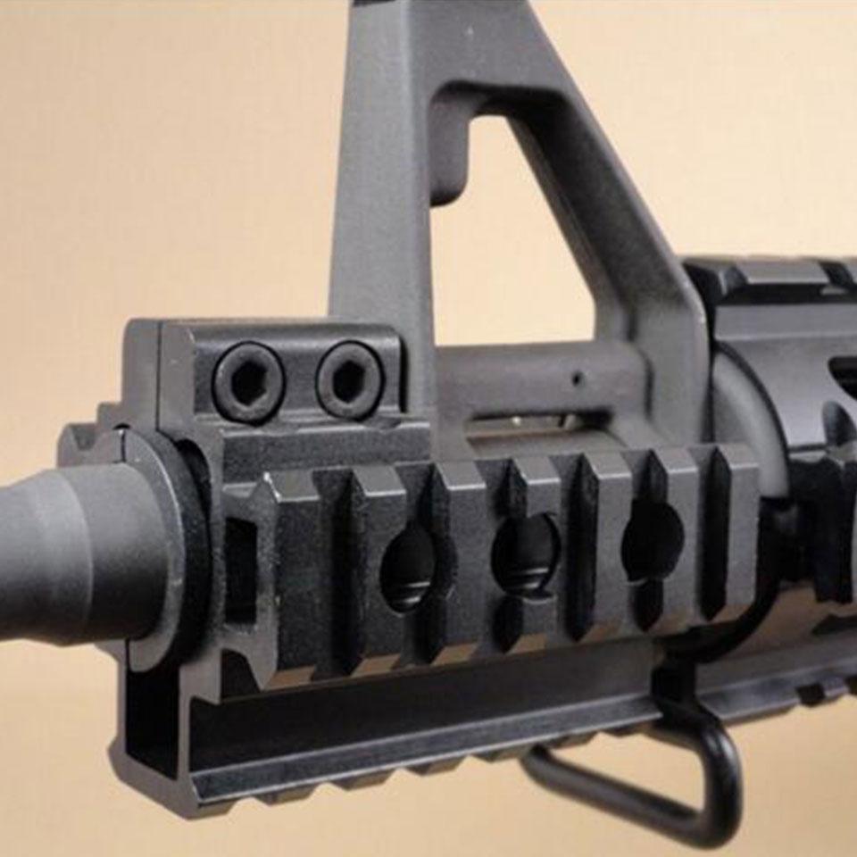 Triple Lateral 20mm Base Del Montaje Del Carril Picatinny Rail Barril Protector