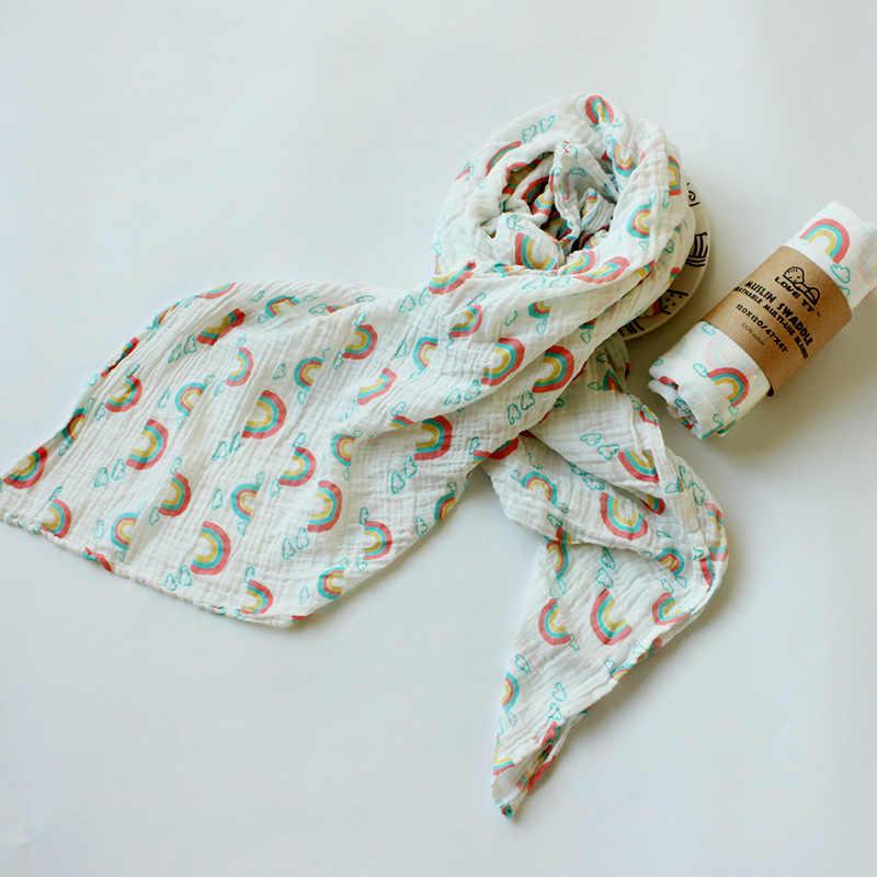 115*115cm muselina algodón bebé recién nacido Swaddle Wrap multiuso bebé mantas gasa infantil Toalla de baño pañal pad Sleepsack cobija utilizable 3 unids/lote