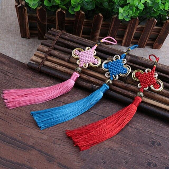 Tassel Craft Knoop Auto Ornamenten Kwastje Hanger Ambachten Auto Achteruitkijkspiegel Ornament Opknoping Auto Decoratie Hanger