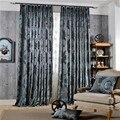 Damask  европейские жаккардовые занавески для гостиной  роскошные шторы  украшение на окно  Классическая блестящая бархатная панель для спаль...
