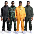 Monos impermeables con capucha monos de lluvia ropa de trabajo pintura a prueba de polvo espray Unisex impermeable ropa de trabajo trajes de seguridad S-XXXL