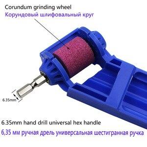 Image 5 - Zjcostol 2〜12.5ミリメートルポータブルドリルビットシャープナーコランダム砥石ドリルビットシャープナーチタンシャープドリルツール