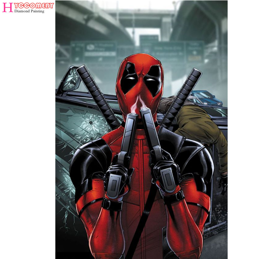 5D Diamond Painting people Movie Comics - Deadpool full square Diamond Embroidery Diamond Cross Stitch decoration gift