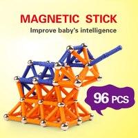 Magnetic Sticks Kits Model Building Blocks Construction Toys For Children Designer Educational Magnet Toy Bars Metal
