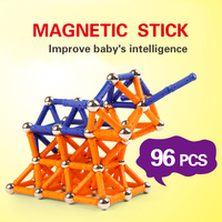 Magnetic Sticks Kits Model Building Blocks Construction Toys For Children Designer Educational Magnet Toy Bars Metal