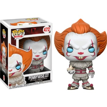 Funko pop  Horror Movie: IT-Pennywise with boat Vinyl Figure  Model Toy with IN Box