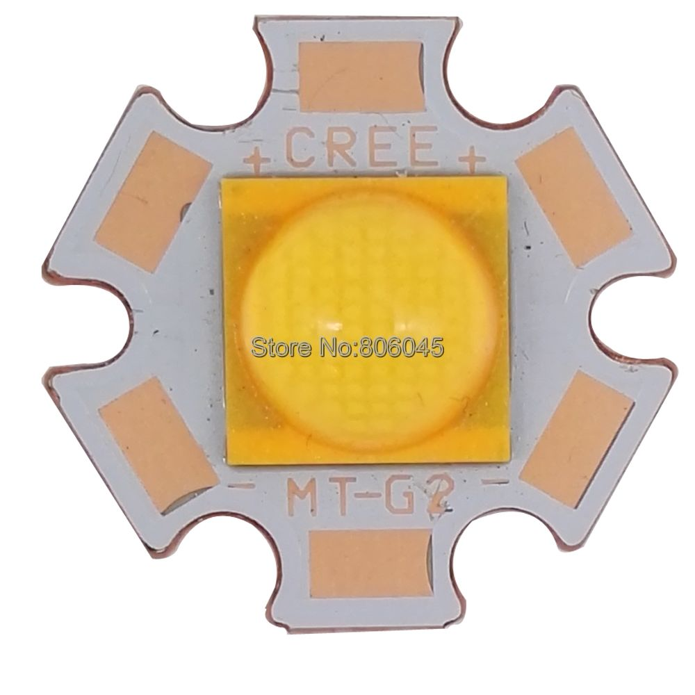 Cree xlamp cxa MTG-2 MT-G2 mtg2 18 w 18 v 1a branco quente 3000 k diodo emissor de luz de alta potência na base de cobre da estrela de 20mm