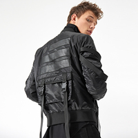 Military Adjustable Buckle Straps Bomber Jacket Mens 2018 Lightly Padded Aviator Jackets Four Colors Free Shipping