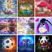 5d Diamond Painting Full Drill Square Scenery Cartoon Animal Rhinestone Embroidery Home decor Abstract Art A2