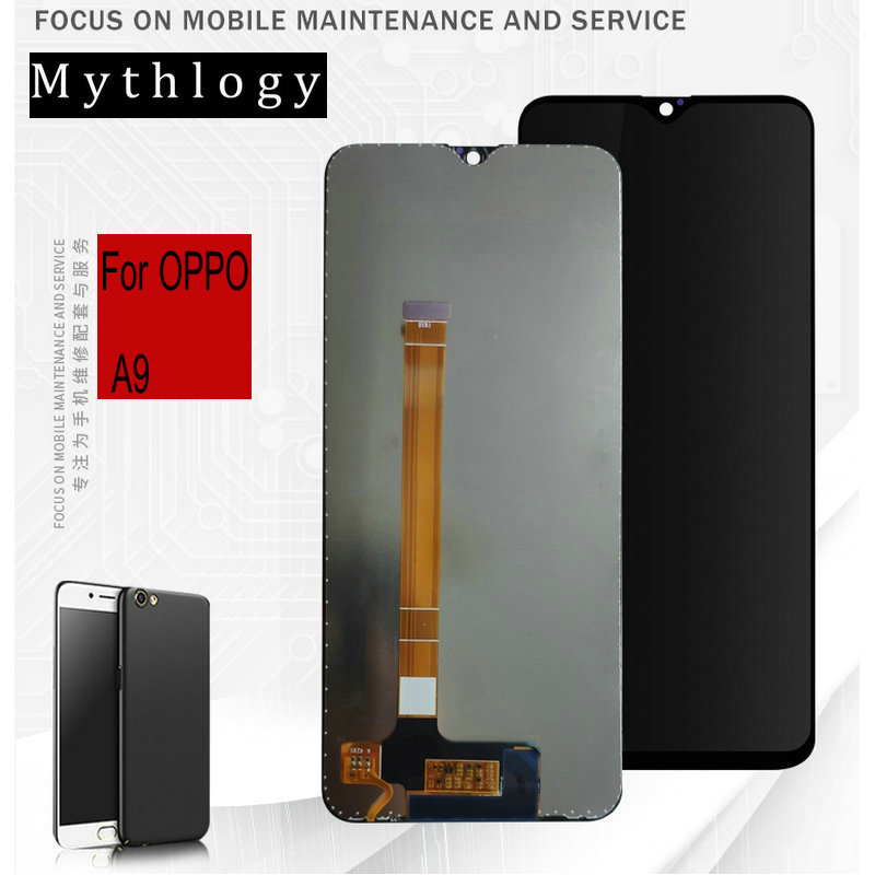 "For OPPO A9 Touch Screen Display Digitizer 6.53""Mobile Phone Panels LCDs Assembly Replacement Repair Tools Mythology(China)"