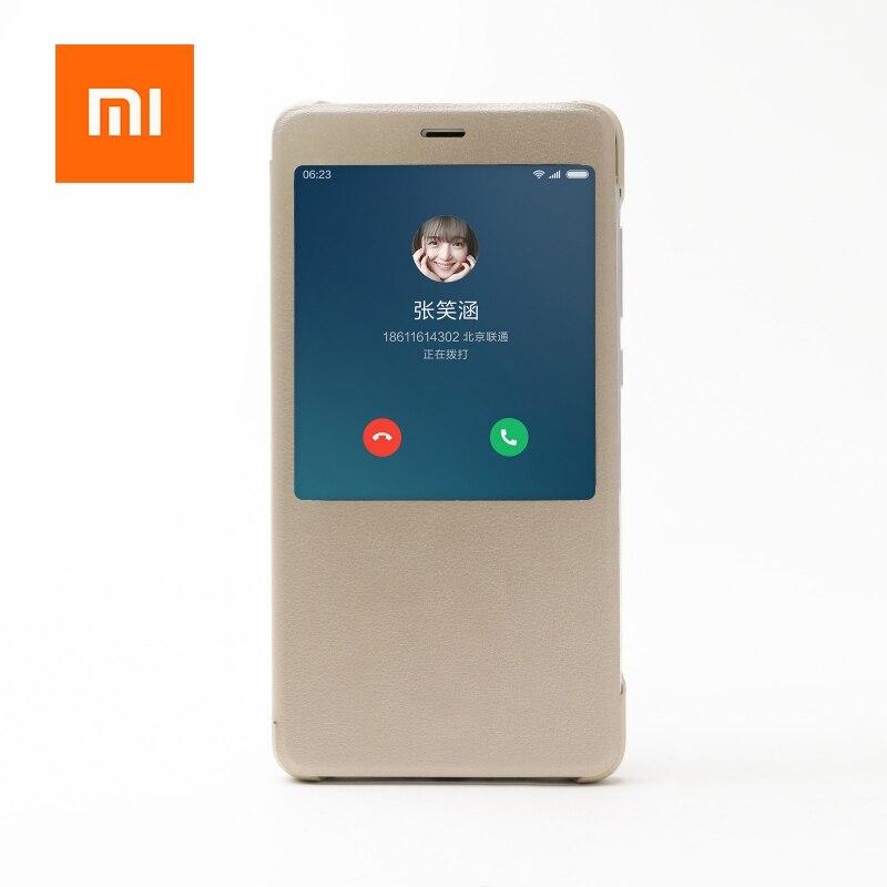 Original Xiaomi Brand Case For Redmi Note 4 Note 4X PU Leather Flip Cover For Xiaomi