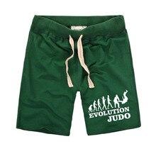 New Casual Men's Shorts EVOLUTION JUDO Letter Logo Printed Elastic Comfortable Cotton Men's Tether Shorts