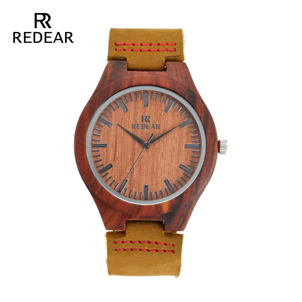 REDEAR Klasik Marka Tasarım Kırmızı Sandal Saatler Hediye Olarak - Kadın Saatler - Fotoğraf 2