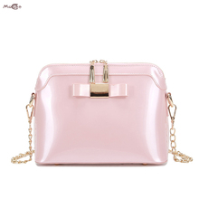 Moccen Women Shoulder Bags Fashion Bao Bao Tote Chain Bag For Women Patent Leather Simple Designer Bag Famous Brand Handbags