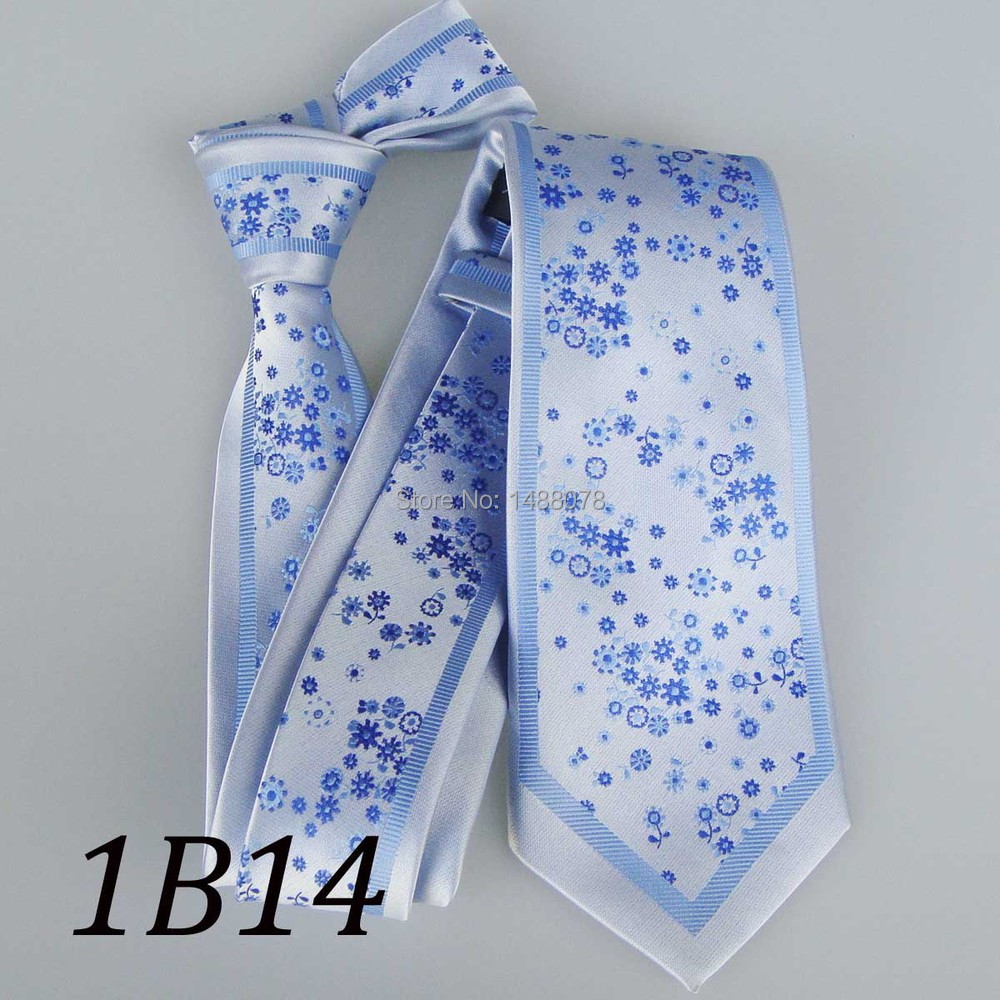 Flower Blue Ties 1B14+