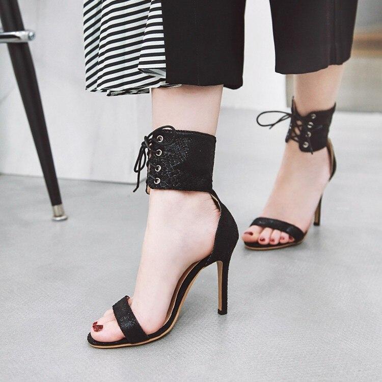 Grande Formato 11 12 13 14 15 di alta talloni delle donne dei sandali scarpe da donna di estate Super-tacco alto sottile- sandali sexy con i tacchi alti strap-on aperte in puntaGrande Formato 11 12 13 14 15 di alta talloni delle donne dei sandali scarpe da donna di estate Super-tacco alto sottile- sandali sexy con i tacchi alti strap-on aperte in punta