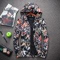 2017 nuevo estilo de chaquetas de Los Hombres de moda casual color de la flor gabardina chaqueta de Los Hombres chaquetas de alta calidad, capa de polvo de los hombres