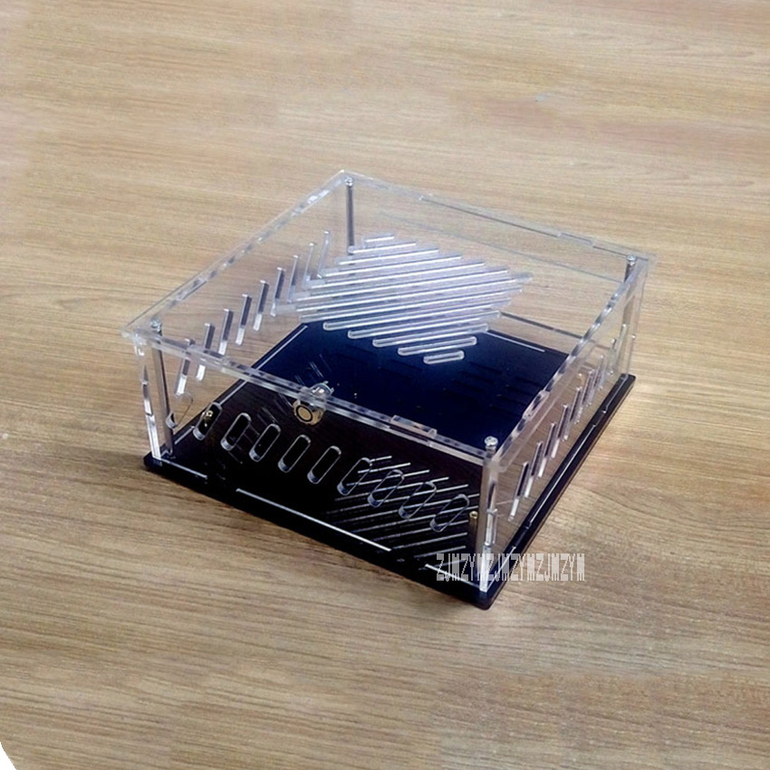 Us 25 23 13 Off Diy Transparent Acrylic Computer Case Box Desktop Pc Computer Chassis Case For Mini Itx Version Mainboard Motherboard In Computer