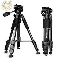 QZSD Q111 Professional Portable Camera Tripod Aluminum Alloy With Q08 Rocker Arm Ball Head FOR Canon