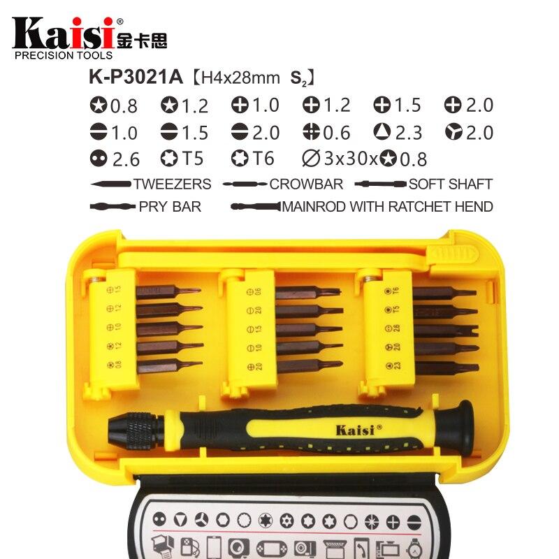 Kaisi 21 in 1 Screwdriver Sets Tools Multi-function Precision Screwdriver Computer Repair Tools Mobile Phone Repair for iPhone