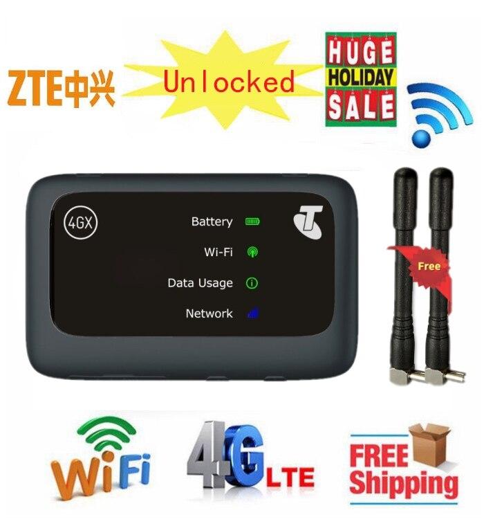 Débloqué 150 Mbps ZTE MF910v 4G routeur WiFi avec emplacement pour carte Sim hotspot de voiture plus antenne 4g