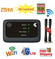 Unlocked 150Mbps ZTE MF910v 4G WiFi Router With Sim Card Slot Car hotspot plus 4g antenna