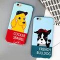 Caso bonito dos desenhos animados de animais cães case para iphone 7 moda engraçado carta Tampa Traseira Phone Cases Para iphone7 6 6 S PLus Capa Fundas