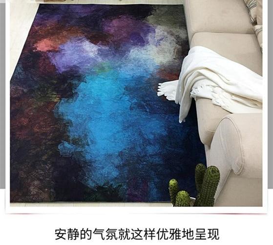 Nouveau abstrait 6mm salon canapé Foyer maison tapis chambre en peluche tapis maison tapis - 4