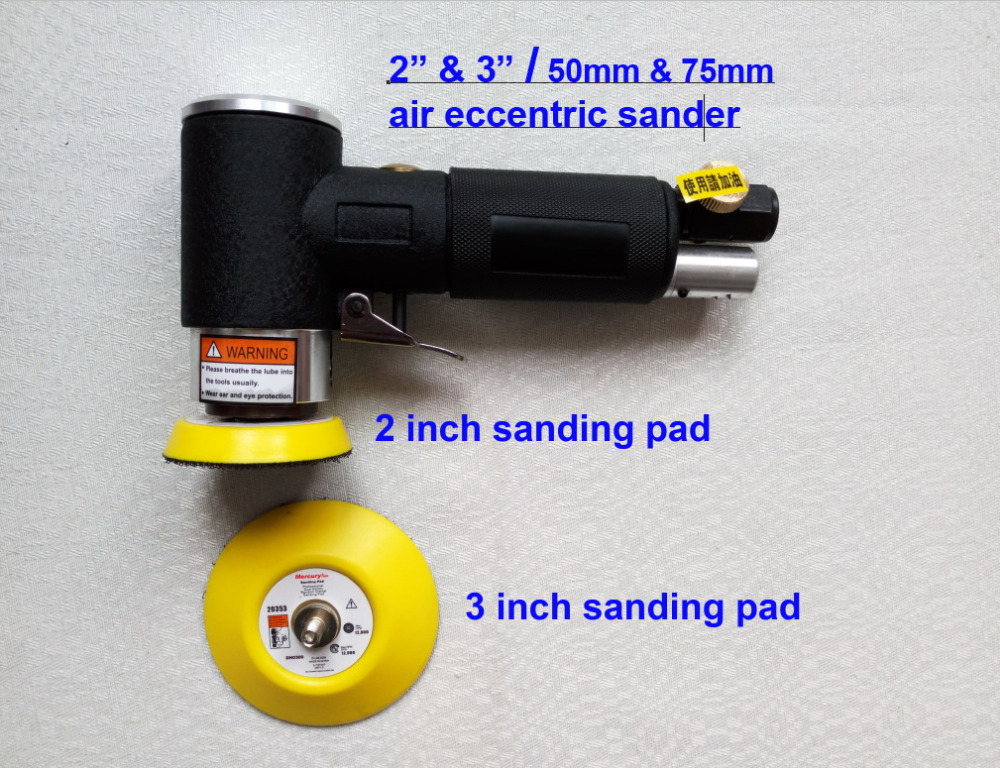 Industrial grade quality! 2 inch 3 inch  air eccentric sander, pneumatic eccentric sander 50mm 75mm polishing grinder 5 inch air sander pneumatic polishing machine high quality