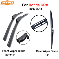 QEEPEI Front And Rear Wiper Blade 26 17 For Honda CR V 2007 2011 High Quality