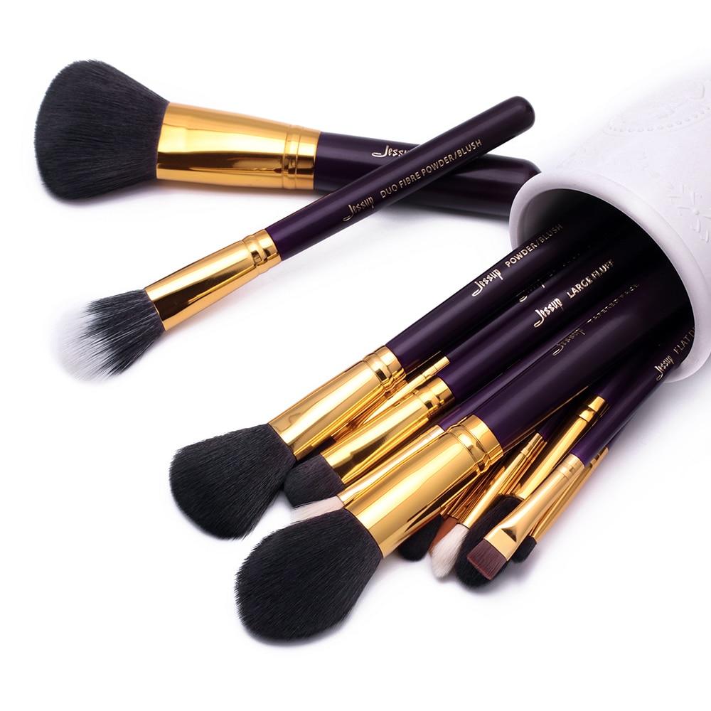 Image 5 - Jessup 15pcs makeup brushes Purple/Gold Pincel Powder brush foundation brushes Eyeshadow Eyeliner Lip-in Eye Shadow Applicator from Beauty & Health