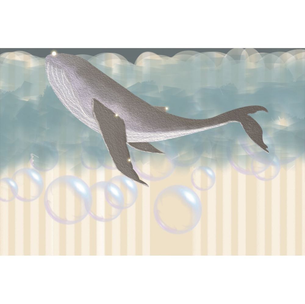 Laeacco Whale Bubbles Wall Underwater Baby Portrait Stage Scene Photography Backgrounds Photographic Backdrops For Photo Studio