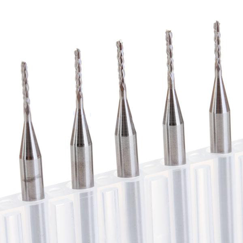 10Pcs Carbide End Mill HSS 4 Flutes 1*3.1*8mm Diameter Milling Cutter Straight Shank Router Bit Set CNC Tools