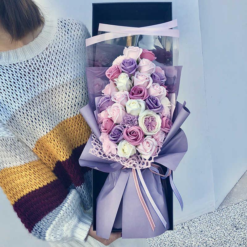 Rose Bouquet Ulang Tahun Proposal Pengakuan Untuk Mengirim Hadiah Pacar Pacar Simulasi Bunga Sabun Bunga Kotak Hadiah Kreativitas Buatan Bunga Kering Aliexpress