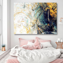 Canvas Painting Abstract Picture Wall Art Graffiti Home Decor Paintings Color Spalsh Decorative Gloden Blue Posters and Prints