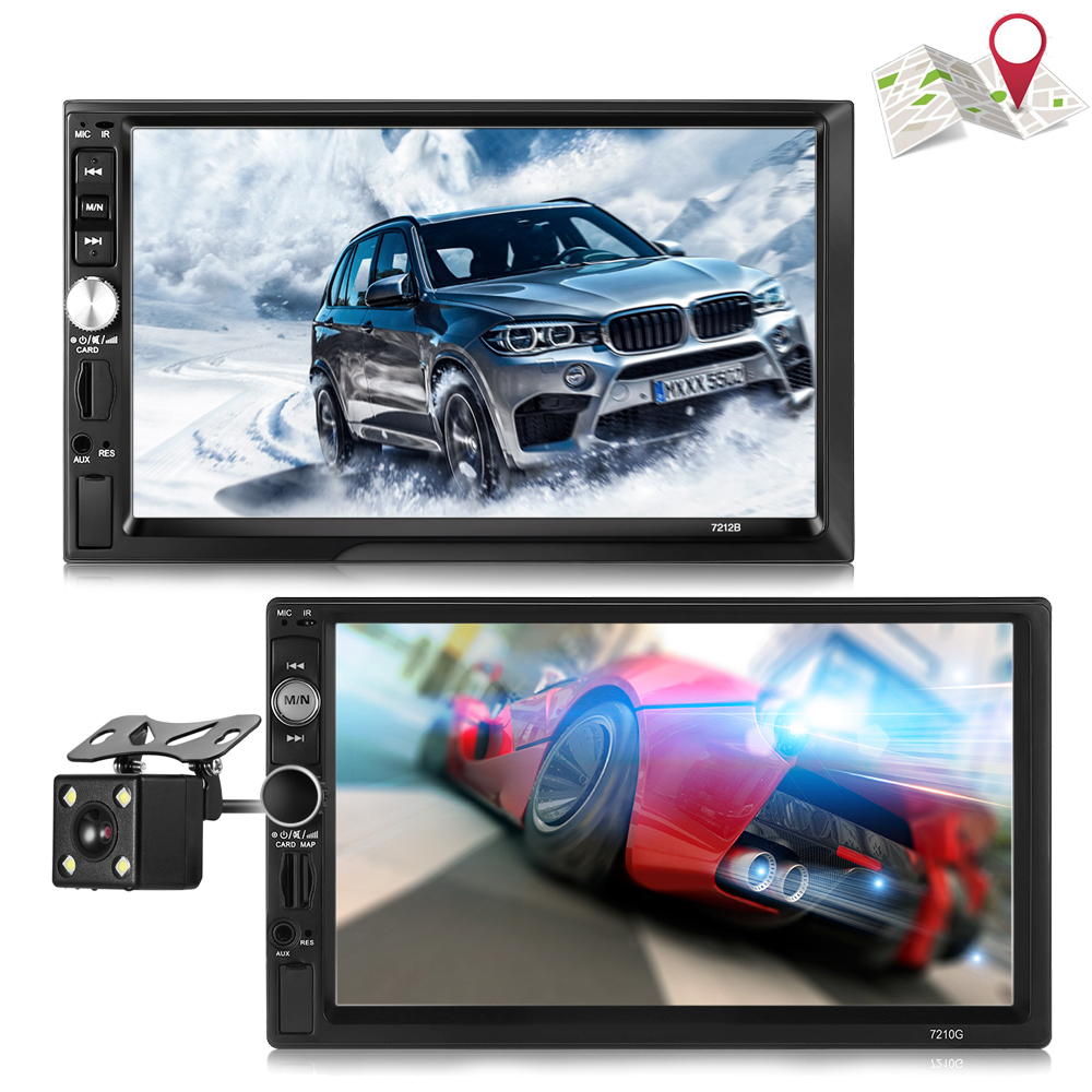 ZEEPIN 721B/7210G Universal Car MP5 Player 7 inch Touch Screen FM RDS Radio Rear Camera Navigation Maps Auto Multimedia Player 7 touch screen 7026 car bluetooth mp5 player gps navigation support tf usb aux fm radio rearview camera steering wheel control