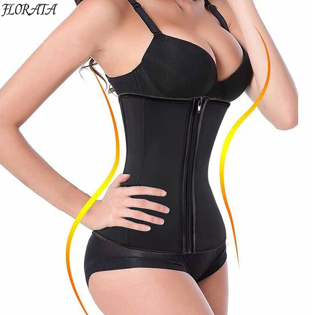 68cd3d7e8e4 New Fashion Corset Body Shaper Slimming Latex Rubber Waist Trainer  Underbust Zipper Slimming Cincher Shapewear Waist Cinchers